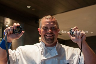 Chef Angus with the timepieces