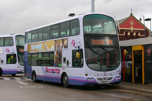 First Greater Manchester, Volvo B9TL, Wright Gemini Eclipse, Ashton-under-Lyne bus station