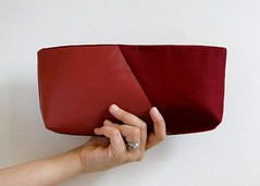 Burgundy Clutch Purse Tutorial by Fabric Paper Glue for Luri & Wilma