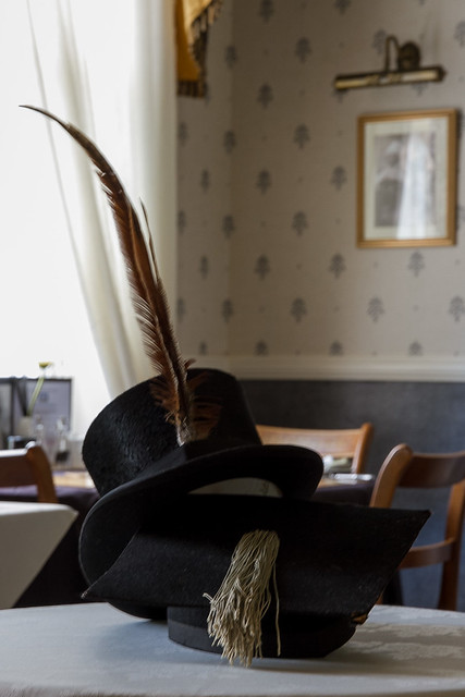 Hotel Inspector - Top Hat and Mortar - feathers and Tassel