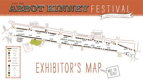 2012 Abbot Kinney Festival Map