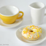 Mini lemon doughnut with sprinkles