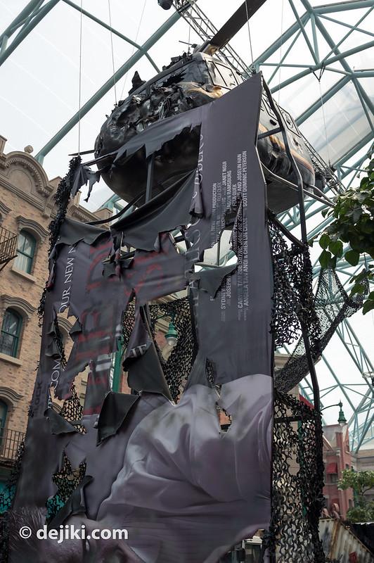 Total Lockdown - torn billboard