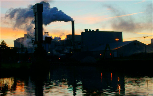 sunset water thenetherlands groningen rook refelctions sugarfactory suikerfabriek hoogkerk zonsopkomst hoendiep atsjebosma mygearandme