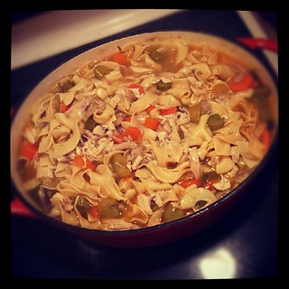 The finished product! #Chicken noodle #Soup for #dinner #comfortfood #sodelicious #yumo #food #fall
