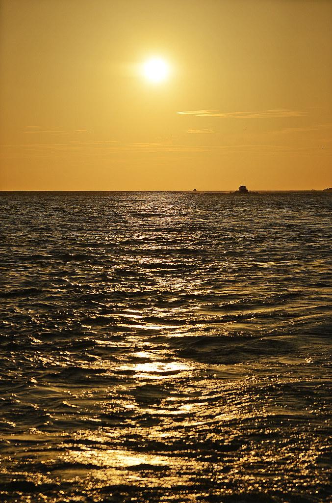福容大饭店渔人码头 黄昏出海看夕阳