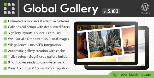 Global Gallery v5.103 - WordPress Responsive Gallery