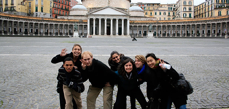 Students in the 2010 Cornell in Rome program.  photo / provided
