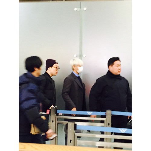 G-Dragon & TOP - Incheon Airport - 30jan2015 - TOP - byeonhs - 01