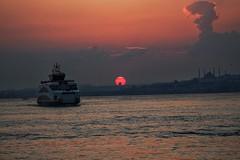 Sunset in Kadikoy, Istanbul
