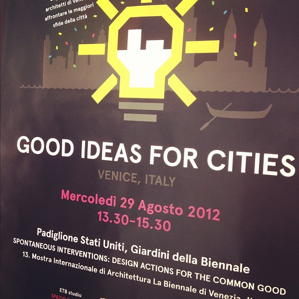 Our poster for today's @IdeasforCities event!