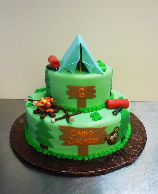 Camping Birthday By Amanda S Caketastic Creations