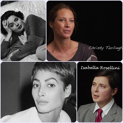 Documental About face (supermodelos entonces y ahora) Christy Turlington e Isabella Rosellini