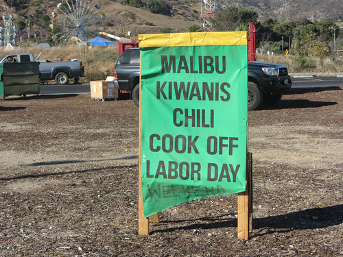 2012 chili cookoff sign