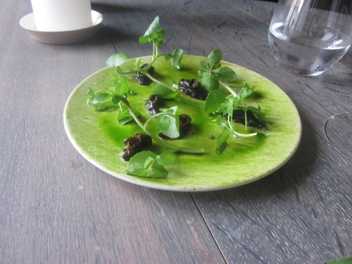 Noma - Copenhagen - August 2012 - Glazed Snails with Parsley and Watercress