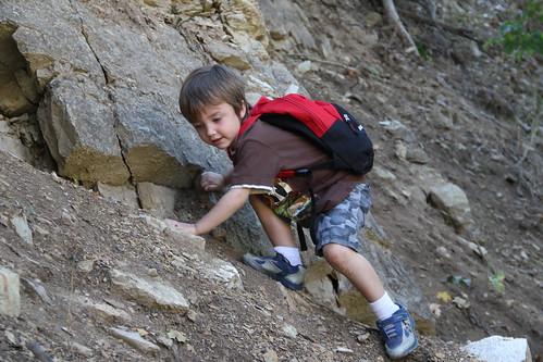 Olsen climbing