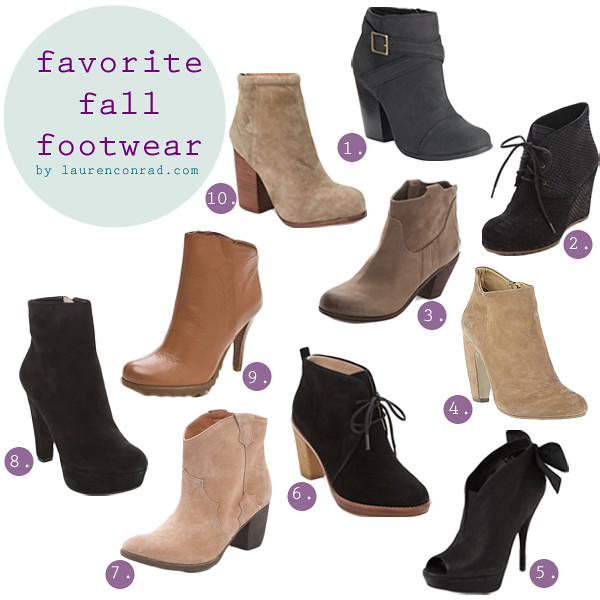 Tuesday Ten: Fall Booties