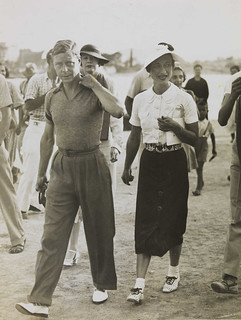 King Edward VIII and Mrs Simpson on holiday in Yugoslavia, 1936.