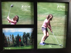 Great day of golf at Pole Creek. Got a sweet framed set of Abbie pics at the end too!
