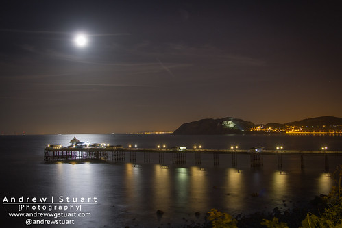 The Moon over Llandudno