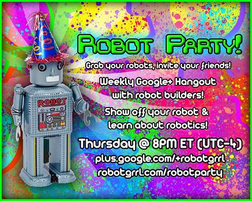 Robot Party Postcard