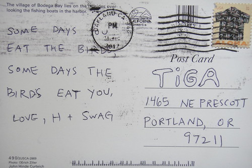thanks for the postcard