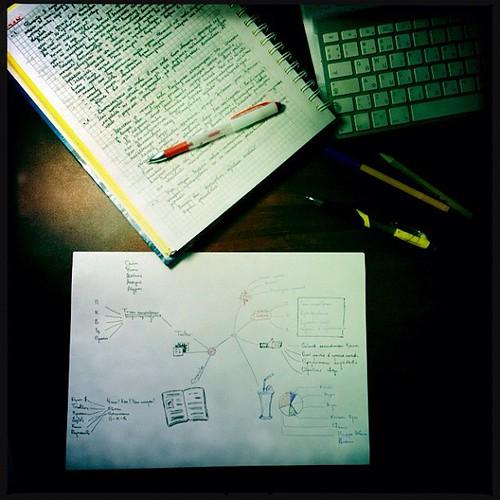 В это утро у меня был не только #фрирайтинг Нарисовал тех. задание по обновлению блога #блокноты