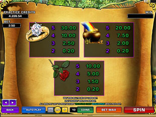 free Magic Charms slot payout