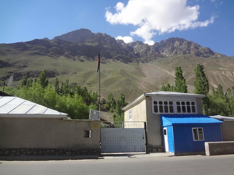 Fachada do consulado do Afeganistão em Khorugh