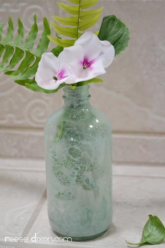 Bubble Painted Glass Vase