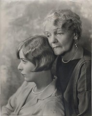 Blanche Sweet and grandmother Mrs. Cora Blanche Ogden Alexander, original portrait photo, c.1927.