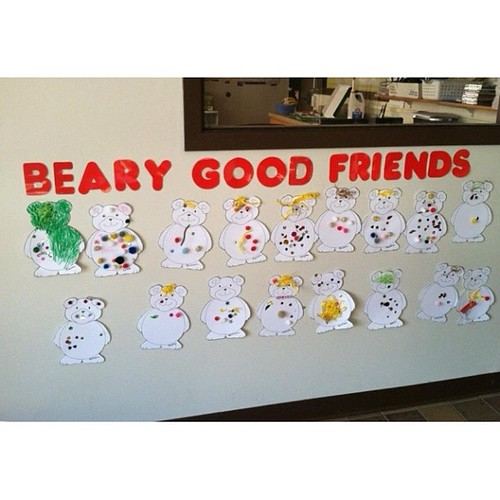 One of these bears is not like the others . . . Oh my Isaac Levi! Love your individuality. #toddlerart