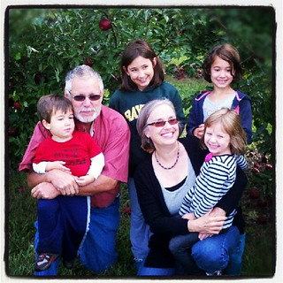 Apple picking with the grands! :)