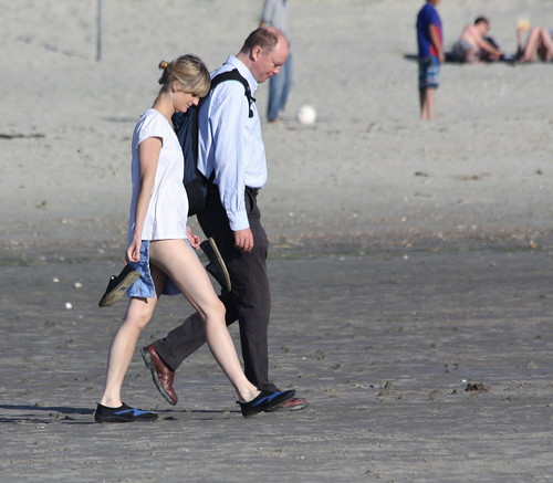 West Wittering Wonderful As Always - Sept 2012 - Pale Long Legged Woman with her Accountant