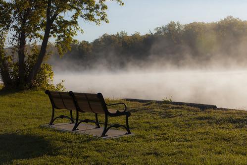 morning trees mist ny fog canon river chair day mark lawn meadows ii albany 5d hudson 14k 5dii bestcapturesaoi elitegalleryaoi