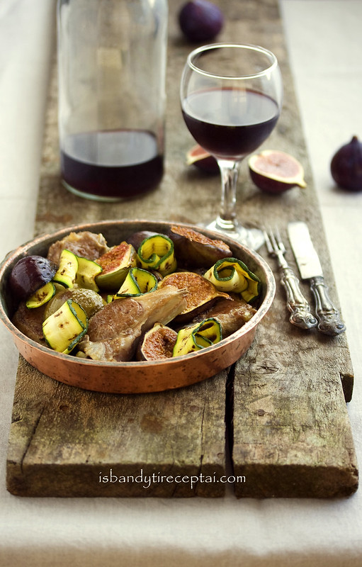 Lamb with figs
