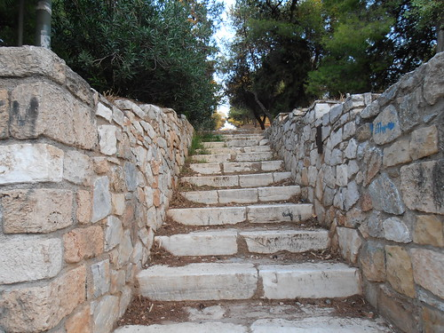 Athens: Stairs at Philopappou