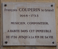 Photo of François Couperin white plaque