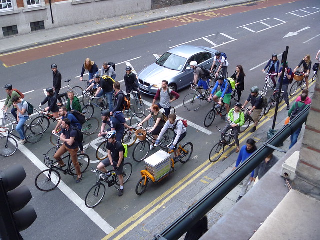 cyclists on Theobalds Road