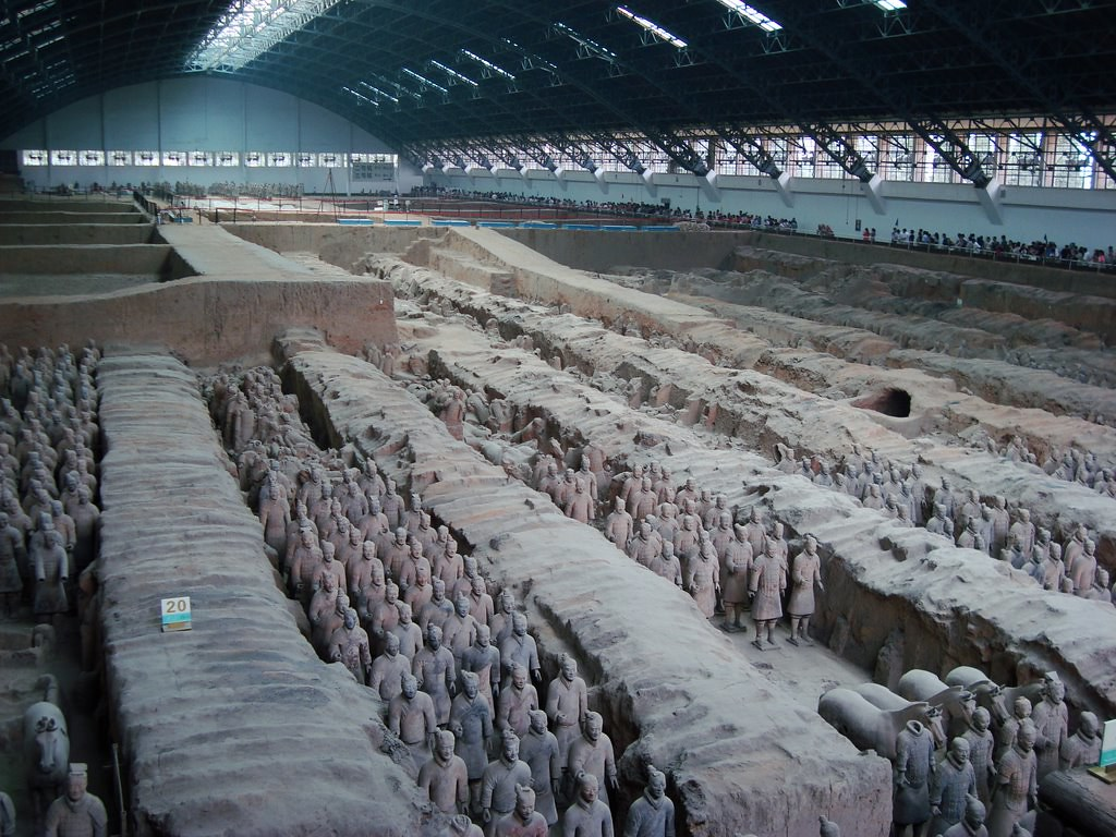 Terra Cotta Warriors near Xi'an