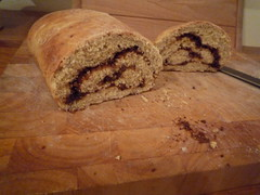 Secret Recipe Club: Banana Nut Cinnamon Swirl Bread
