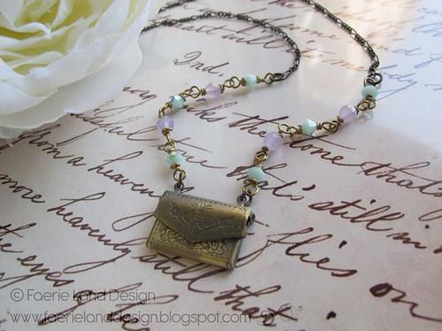Collana Love Letter bronzo