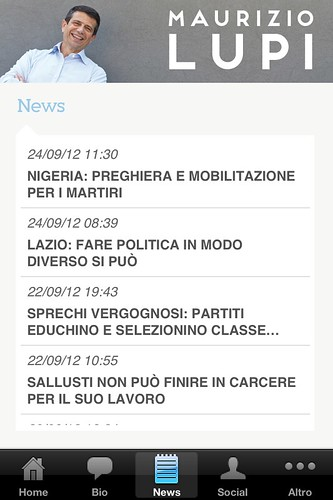 Nuova app Maurizio Lupi News