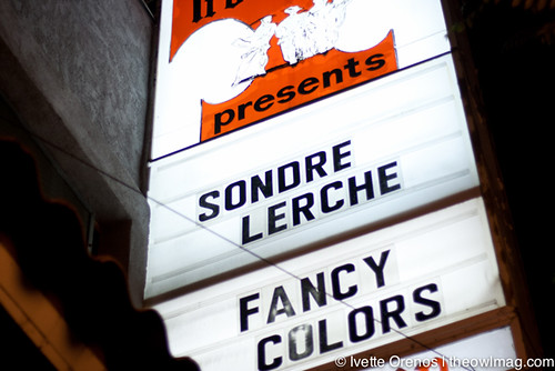 Sondre Lerche @ The Troubadour, LA  9/22/12