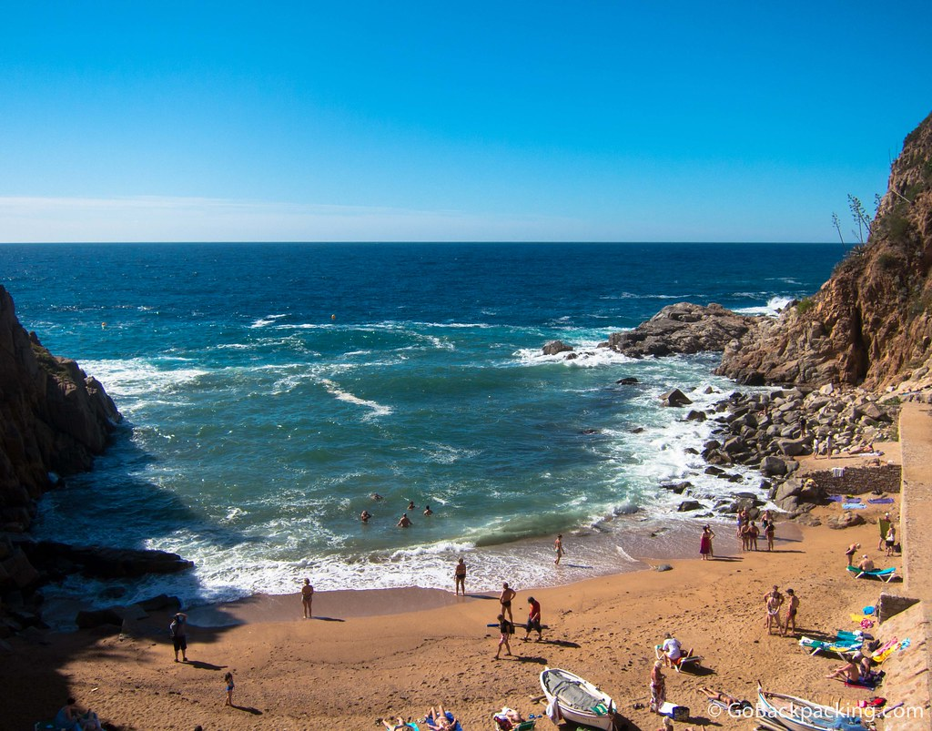 A hidden cove offers more beachgoers greater privacy
