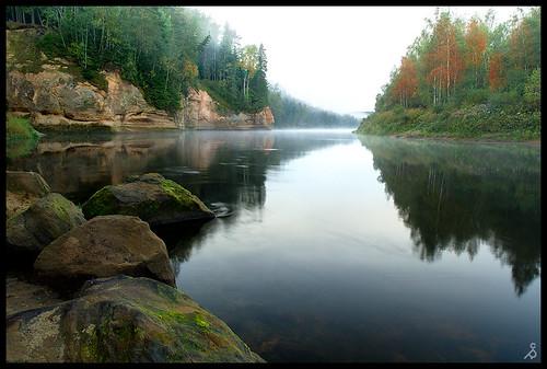 landscape samsung daba rudens outumn cēsis gauja migla gaujanationalpark ainava gaujasnacionālaisparks klintis nx11 ērgļu