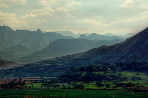 The sombre Drakensbergs