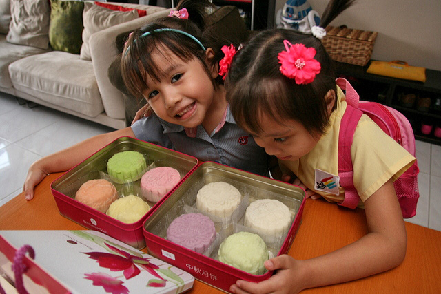 Nadine and Jolie especially love the chilled snowskin mooncakes