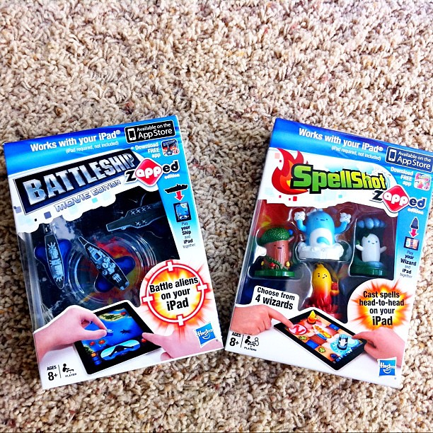 Just received these fun @HasbroGameNight Spellshot and Battleship zAPPed Edition Games for our iPads. Can't wait to try them out!