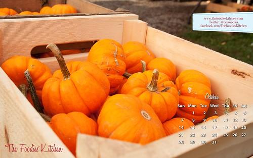 Foodies Freebie: October 2012 Desktop Calendar